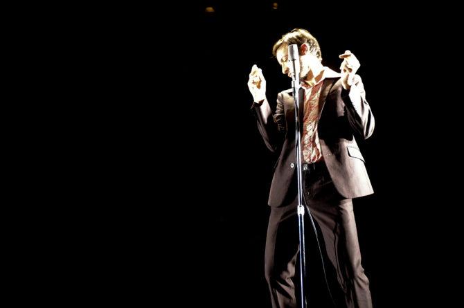 Miguel Marín during the performance of Salón Otto . PHOTO: LUIS CASTILLA
