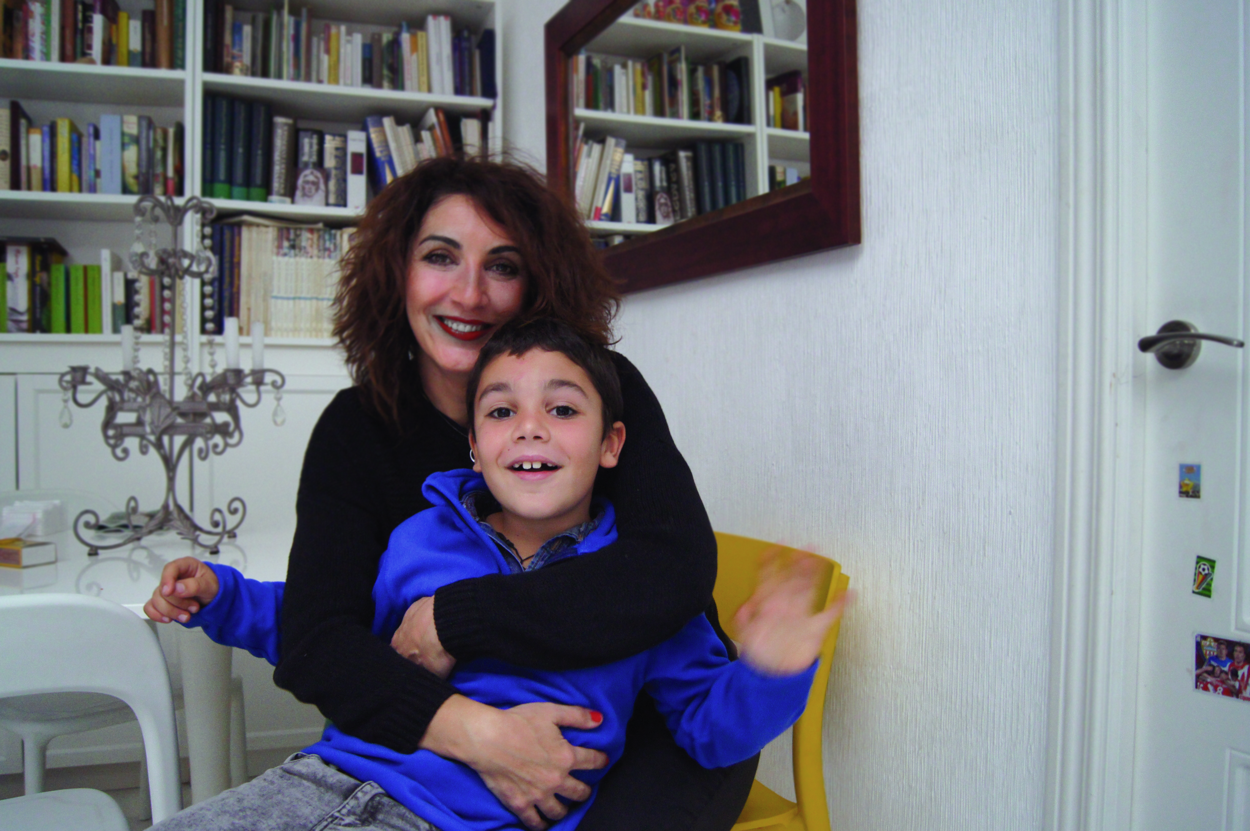 Patricia with her son Alfonso / MADISON CAMERON